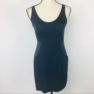 Barneys New York Co-Op navy silk dress